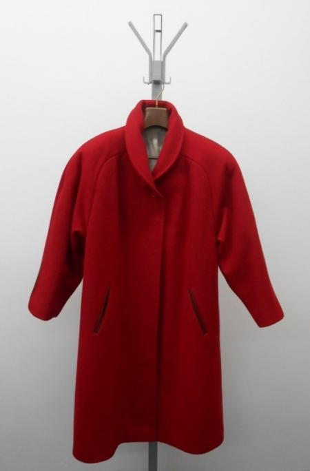 Bazar.Vylepeno.cz - Dámský flaušový kabát – červený ... 702e5206a2