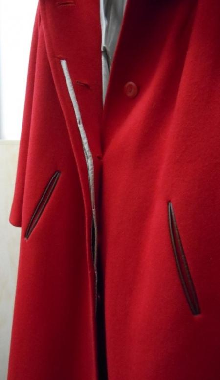 Vylepeno.cz - Dámský flaušový kabát – červený Bazar. 57616ab92c