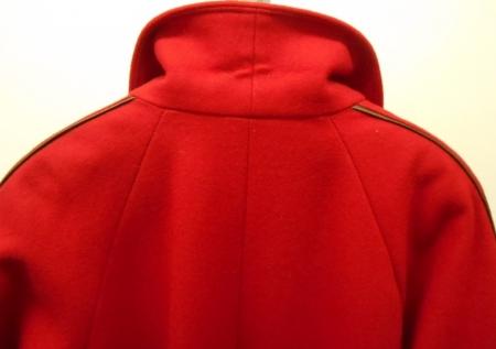 Vylepeno.cz - Dámský flaušový kabát – červený 6f4a1f3e48