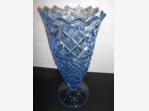 Bazar.Vylepeno.cz - Modrá broušená váza