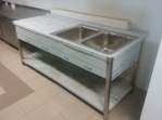 Bazar.Vylepeno.cz - Mycí stůl 2 x dřez, 70x85x180 c